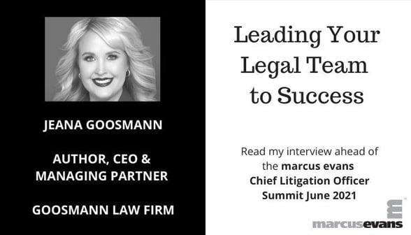 Chief Litigation Officer 2021 - Jeana Goosmann Banner for Jeana (002)